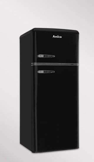 Czarna lodówka Amica KGC15634S Retro